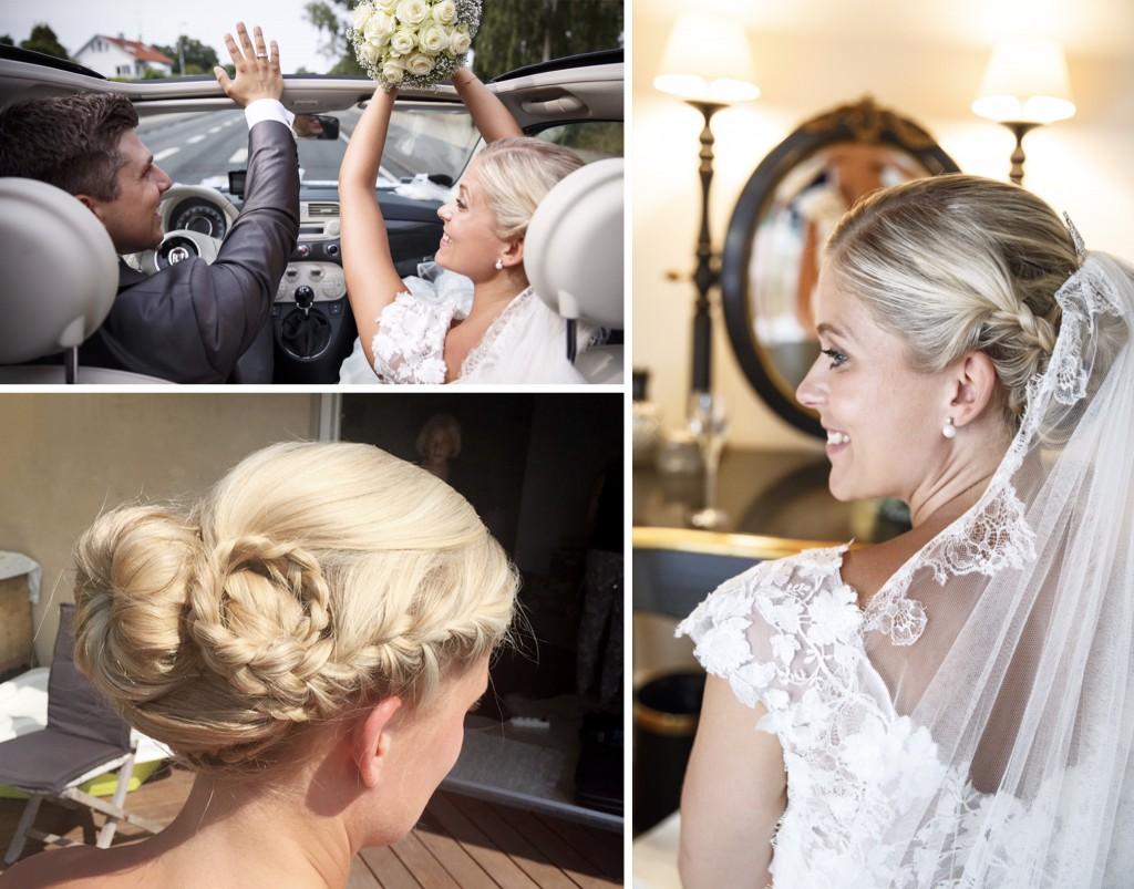 Brudemakeup - håropsætning til brud